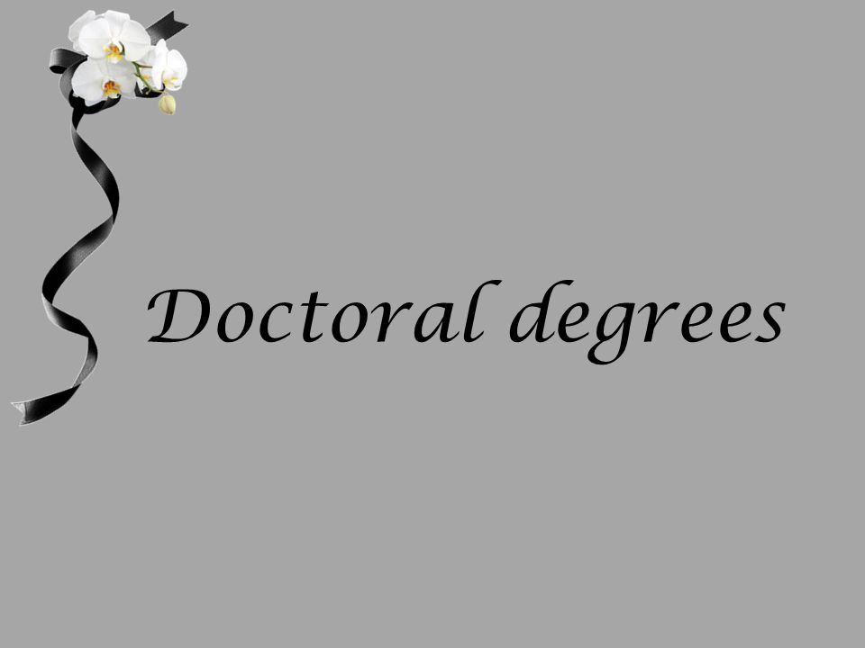 Doctoral degrees