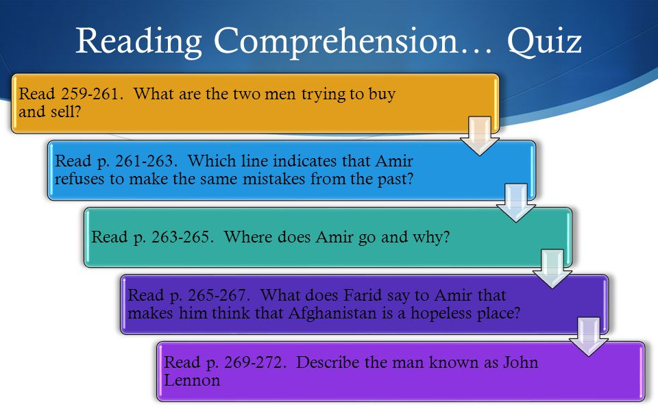 Reading Comprehension… Quiz Read 259-261. What are the two men trying to buy and sell.
