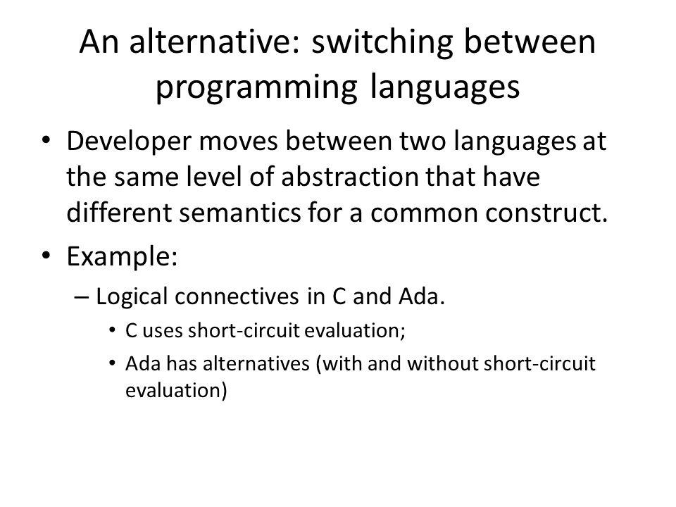 Scenario: refinement/retrenchment Similar constructs can have different semantics.