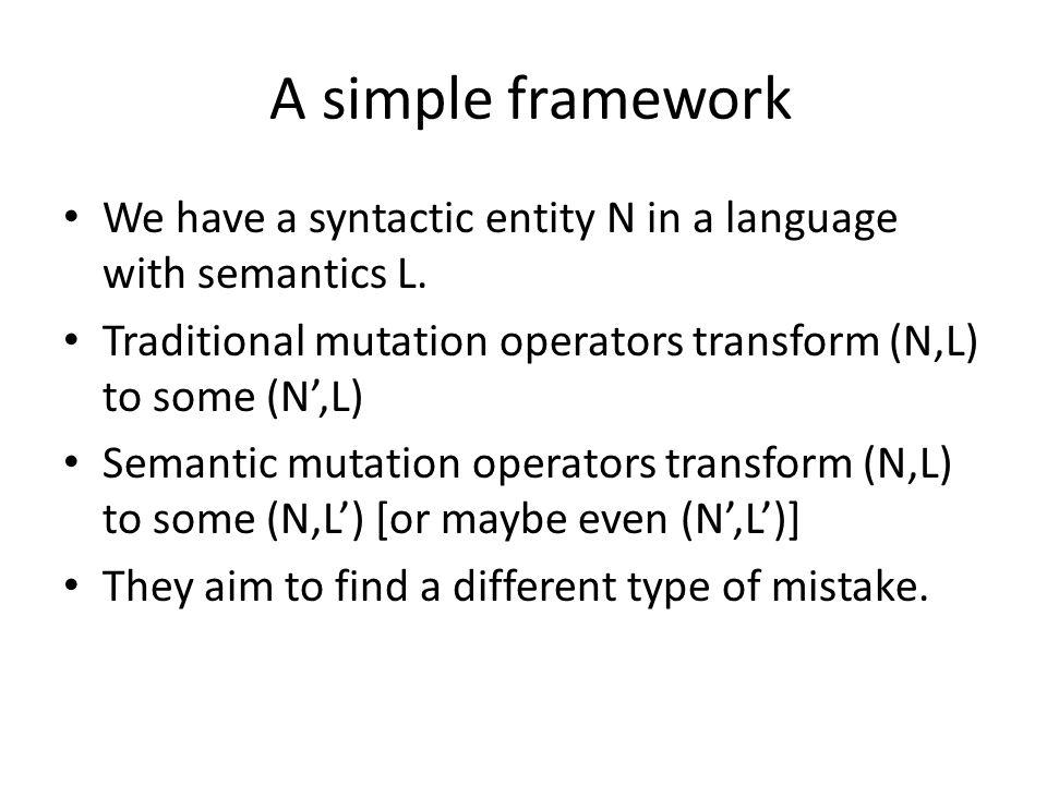 Future work of SMT-C Implement more semantic mutation operators.