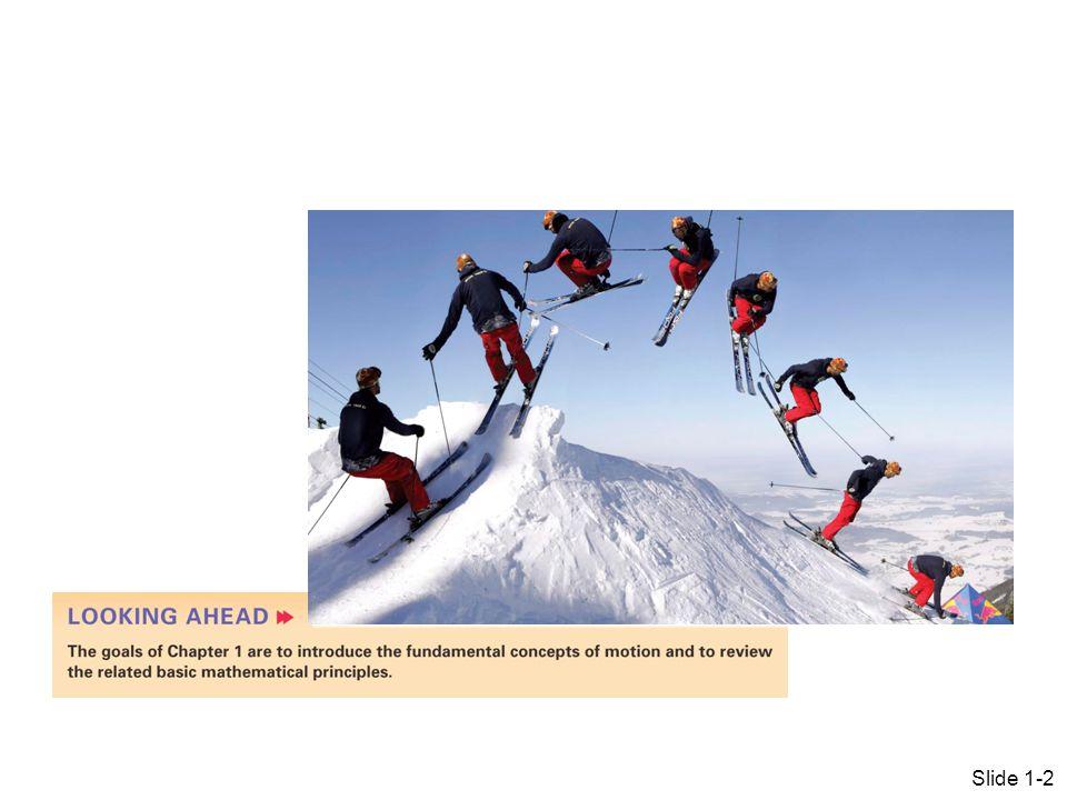 Slide 1-2 1 Representing Motion