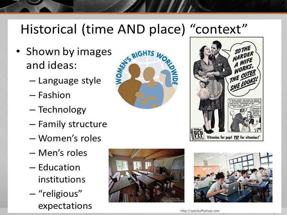 More ideas about historical context… http://coolstuffschool.com