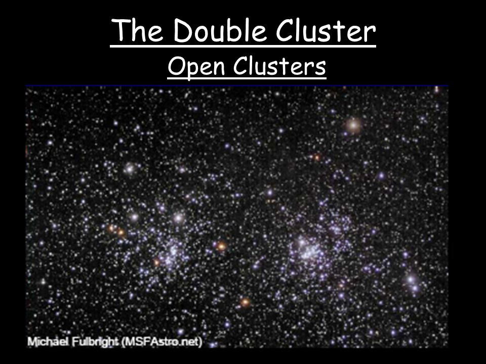 The Double Cluster Open Clusters