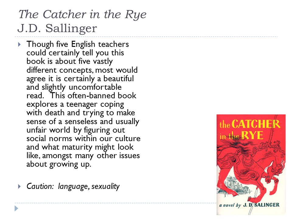 The Catcher in the Rye J.D.