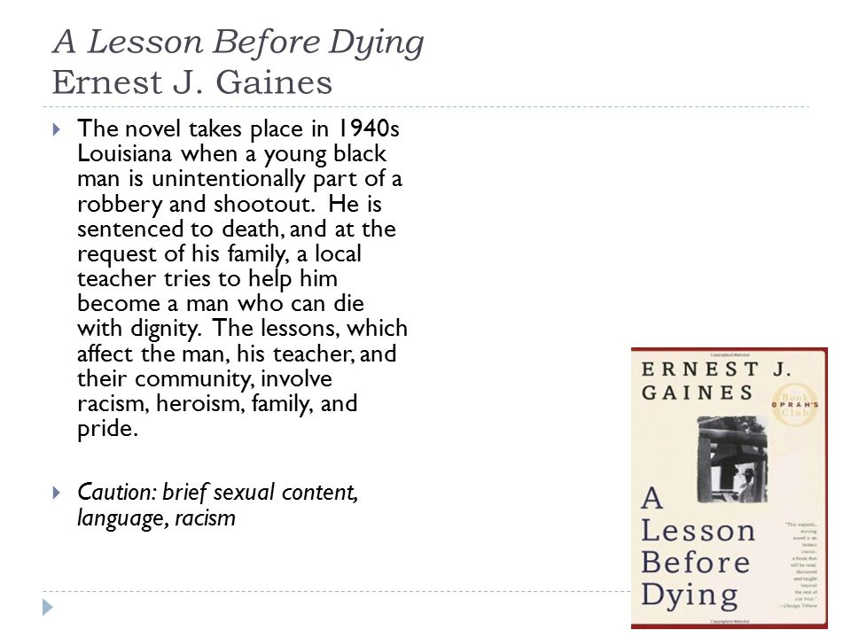 A Lesson Before Dying Ernest J.