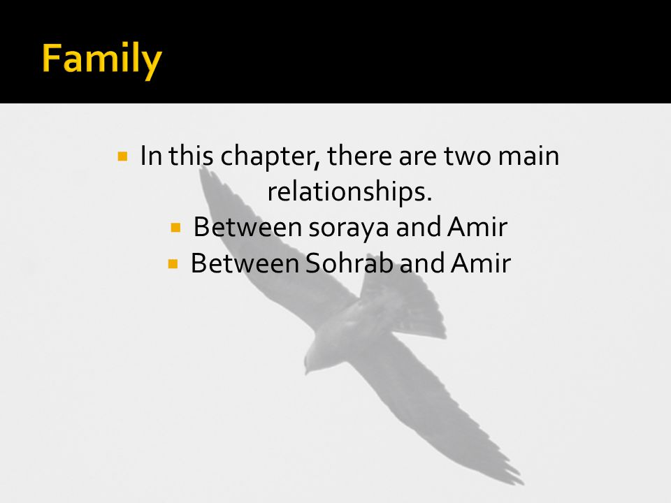  In this chapter, there are two main relationships.
