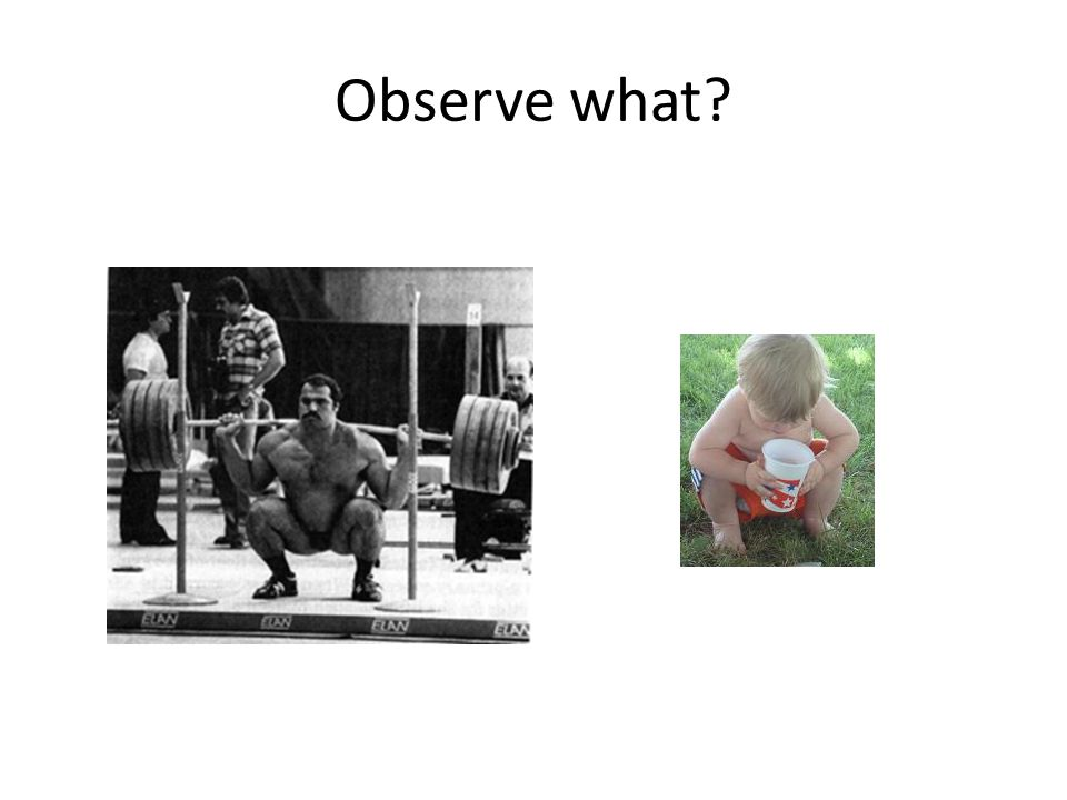 Observe what