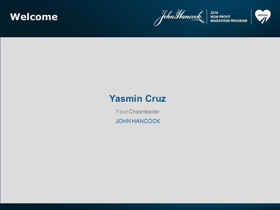 Welcome Yasmin Cruz Your Cheerleader JOHN HANCOCK