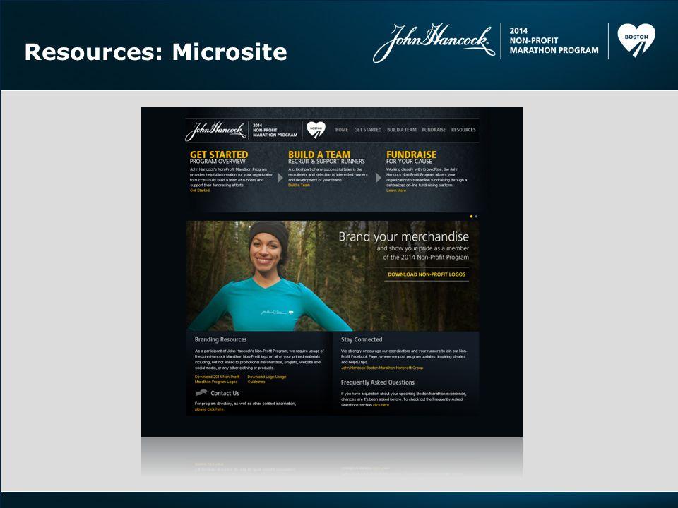 Resources: Microsite