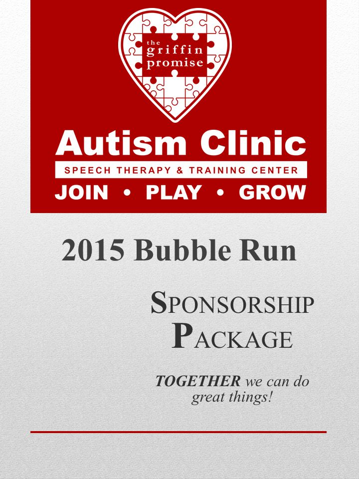 S PONSORSHIP P ACKAGE TOGETHER we can do great things! 2015 Bubble Run
