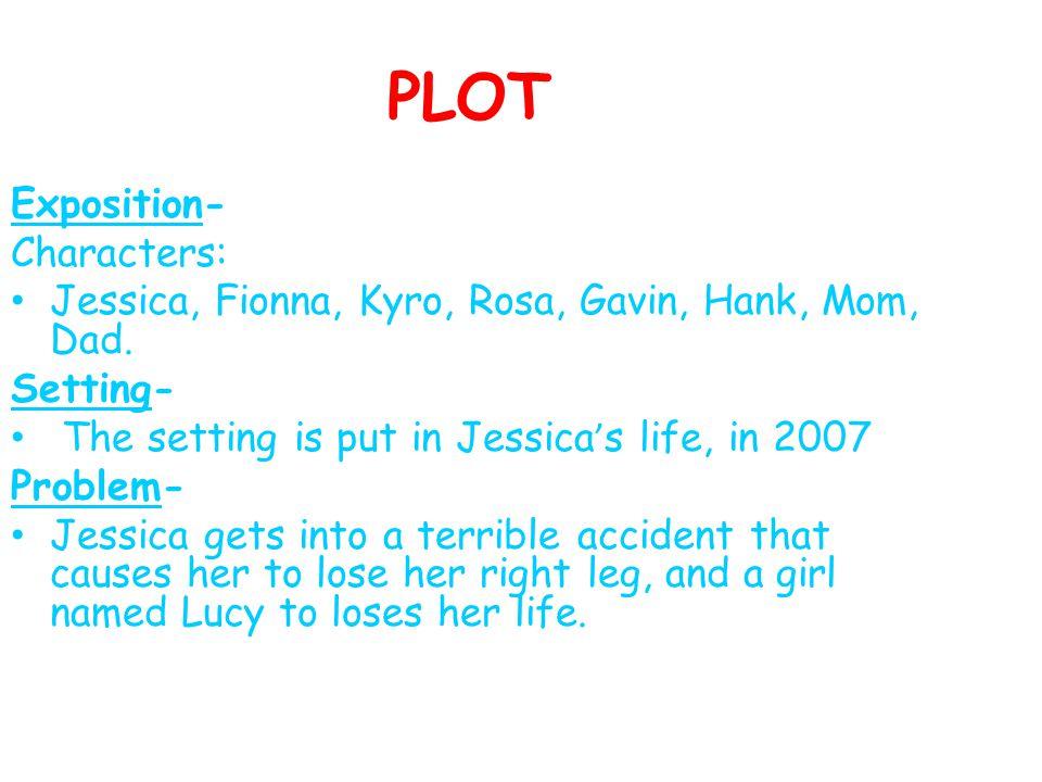 PLOT Exposition- Characters: Jessica, Fionna, Kyro, Rosa, Gavin, Hank, Mom, Dad.