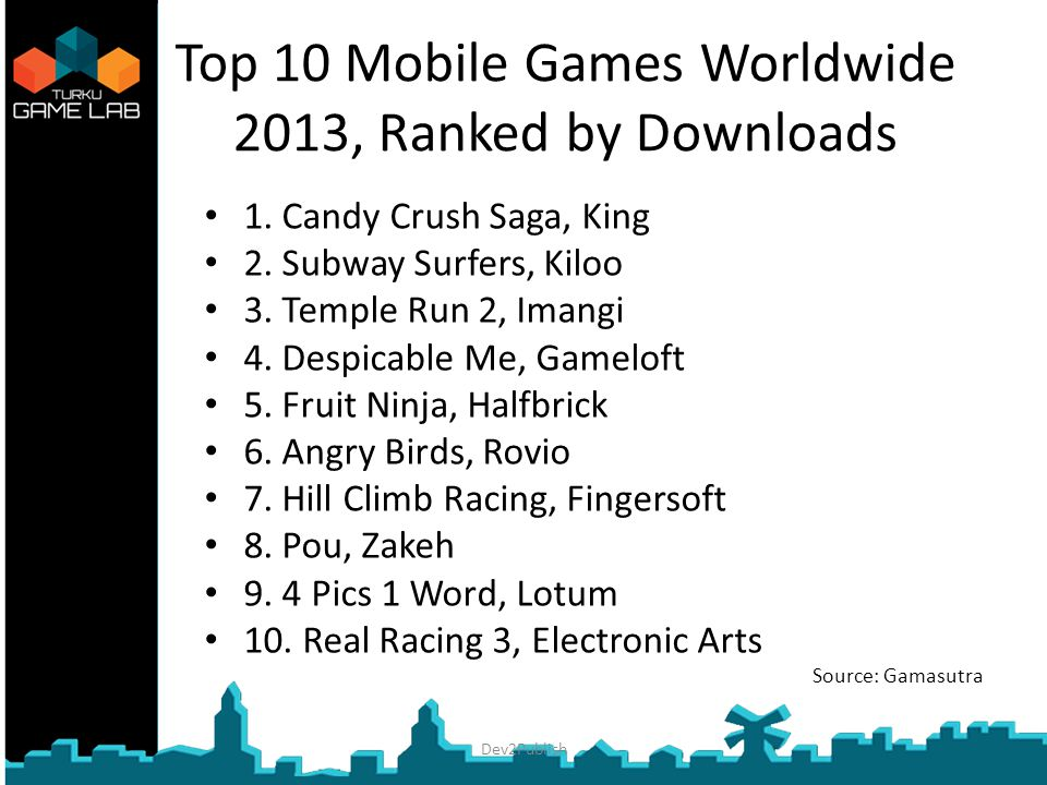 Top 10 Mobile Games Worldwide 2013, Ranked by Downloads 1.