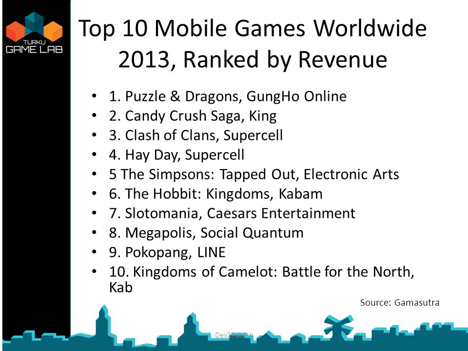 Top 10 Mobile Games Worldwide 2013, Ranked by Revenue 1.