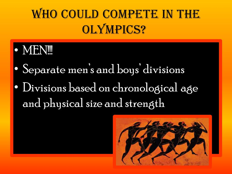Could not compete – married women barred under penalty of death from attending – Maidens allowed to attend games But, could be an owner of a Chariot team or horse owner