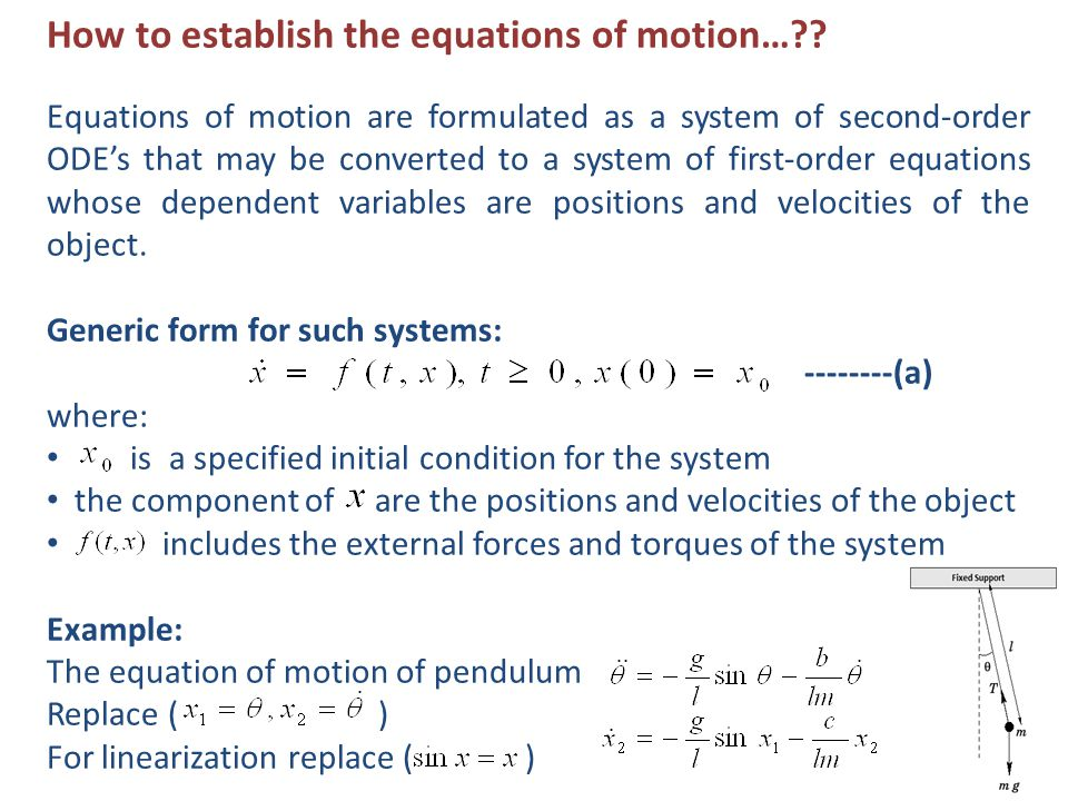 How to establish the equations of motion… .
