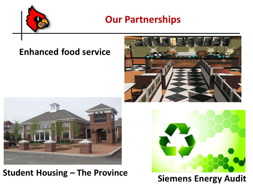 Enhanced food service Our Partnerships Student Housing – The Province Siemens Energy Audit
