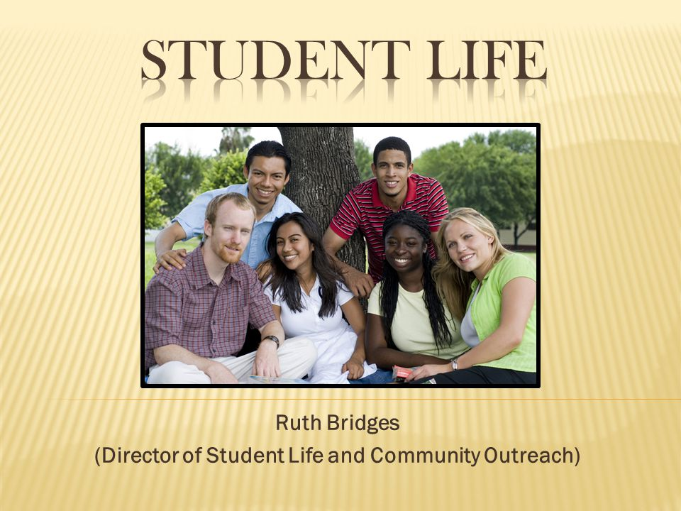 Ruth Bridges (Director of Student Life and Community Outreach)