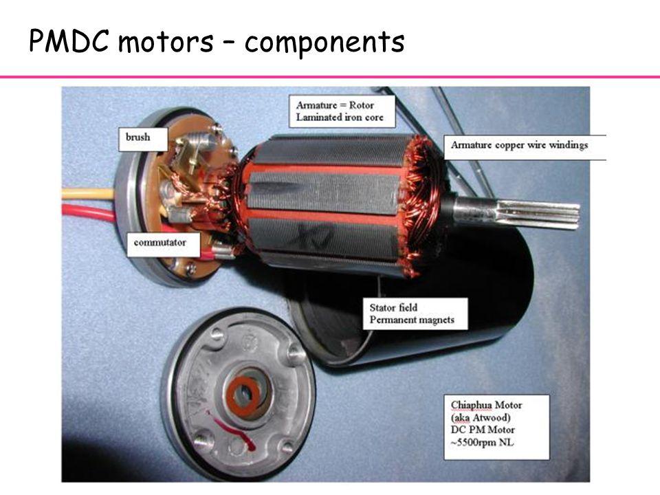 3 3 PMDC motors – components