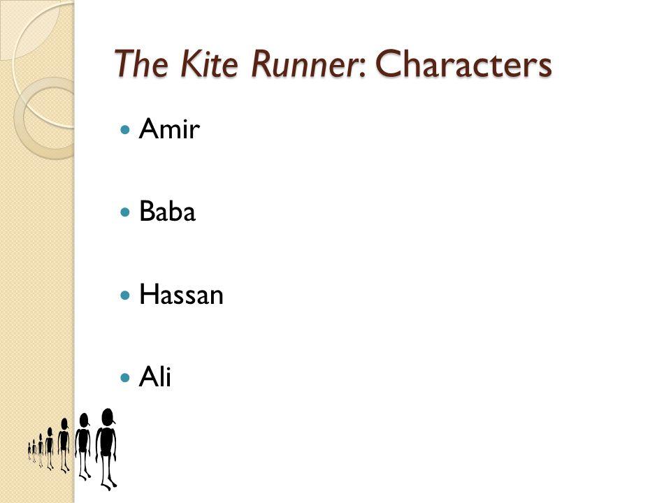 The Kite Runner: Characters Rahim Khan Assef Sohrab General Taheri