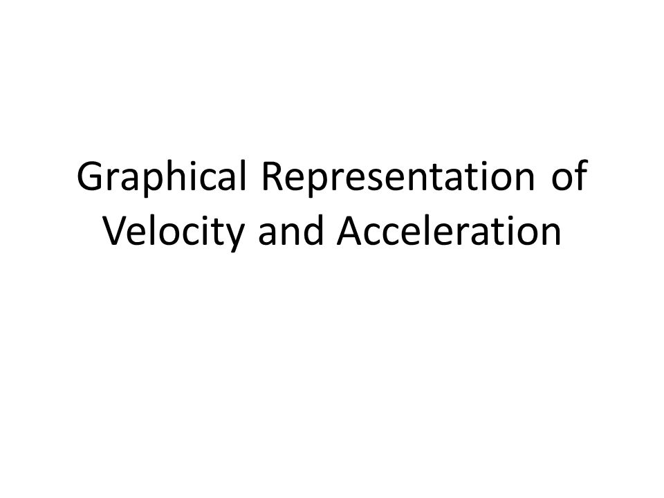 Graphical Representation of Velocity and Acceleration