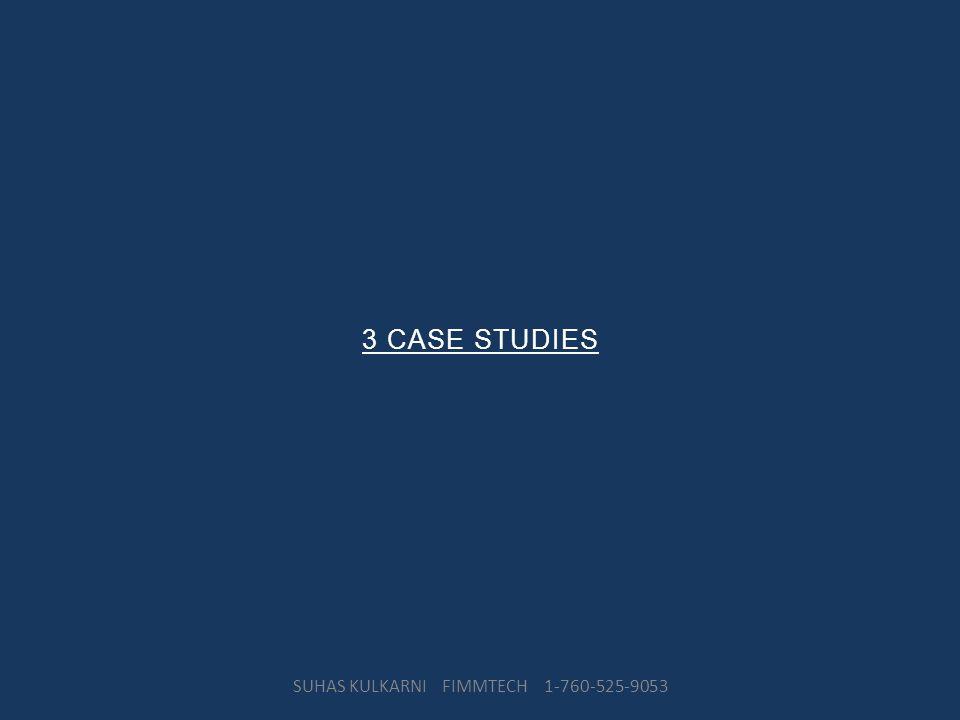 3 CASE STUDIES SUHAS KULKARNI FIMMTECH 1-760-525-9053