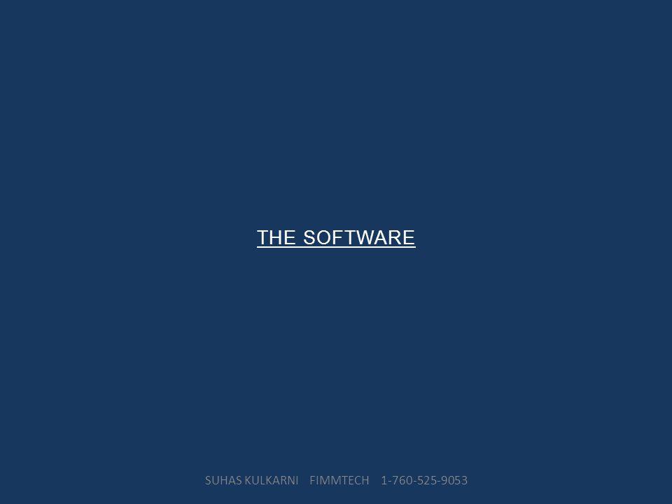 THE SOFTWARE SUHAS KULKARNI FIMMTECH 1-760-525-9053