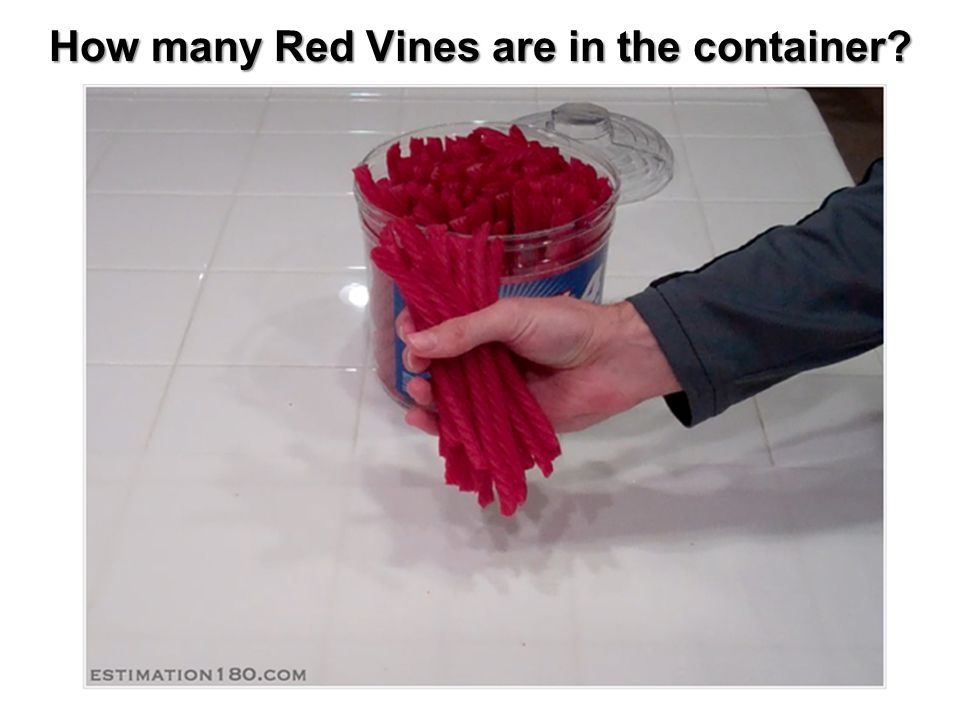 How many Red Vines are in the container
