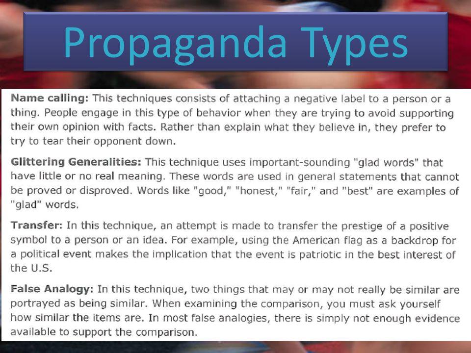 Propaganda Types