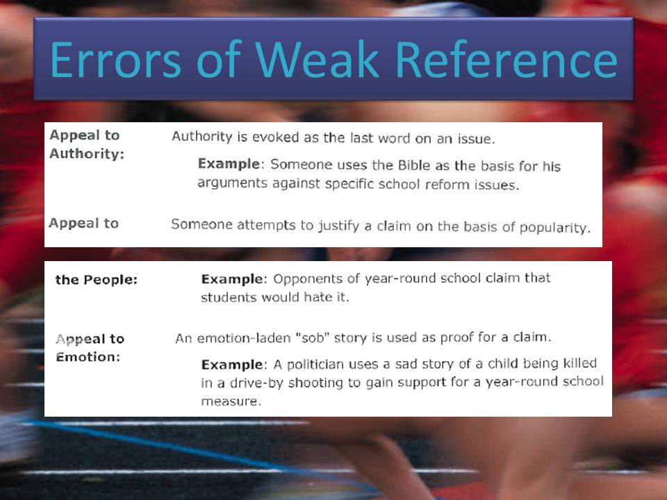 Errors of Weak Reference