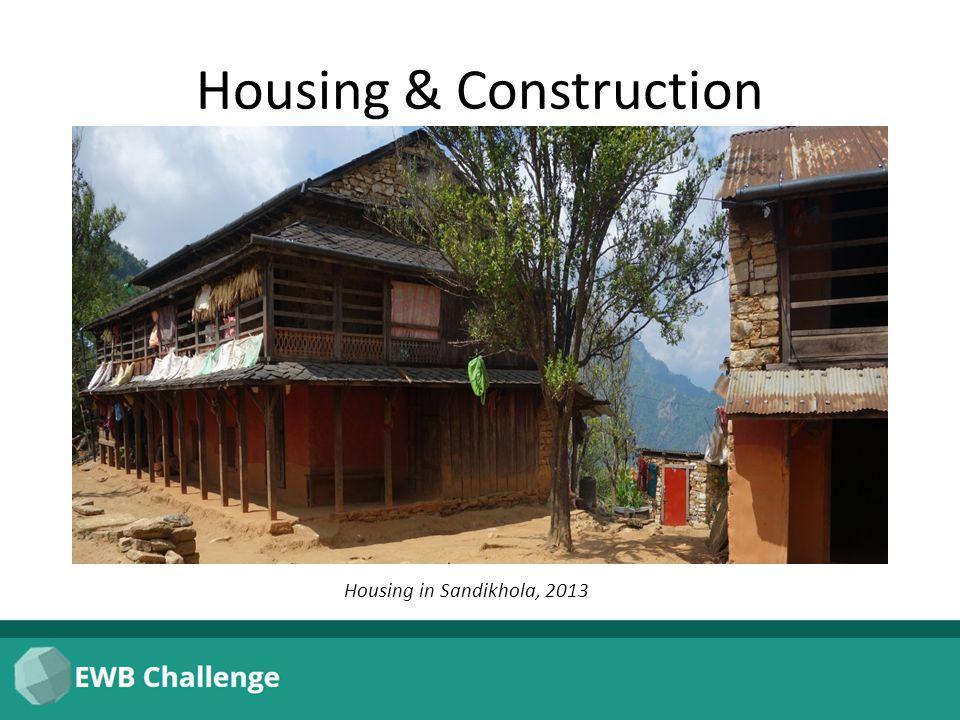 Housing & Construction Housing in Sandikhola, 2013