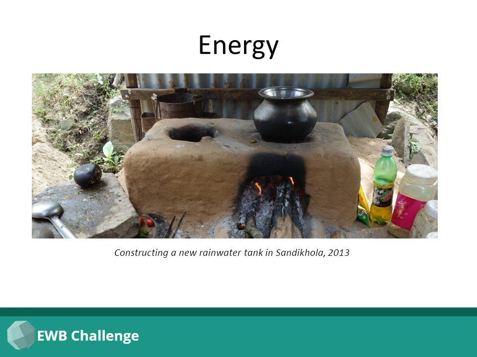 Energy Constructing a new rainwater tank in Sandikhola, 2013
