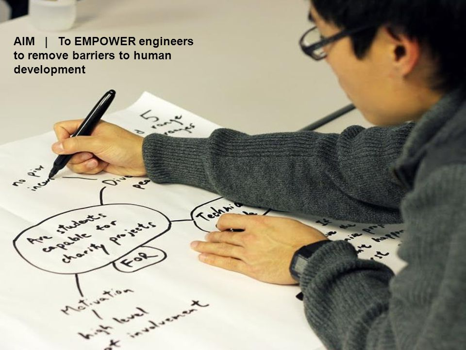 AIM | To EMPOWER engineers to remove barriers to human development