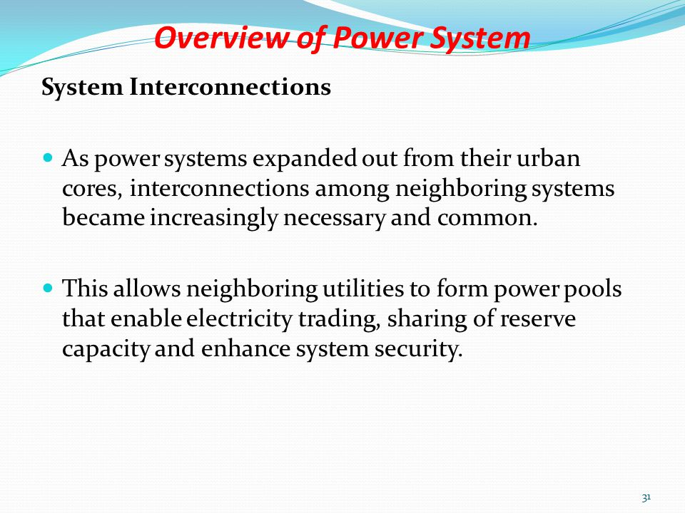 Overview of Power System Master Stations and Subordinates Northern Network Services Tamale Area Tamale Substation TM28 Bolga SubstationBG29 Yendi SubstationYD35 Zebila SubstationZB53 Buipe SubstationBP55 Tumu SubstationTU69 Bawku Substation ( under construction) 30
