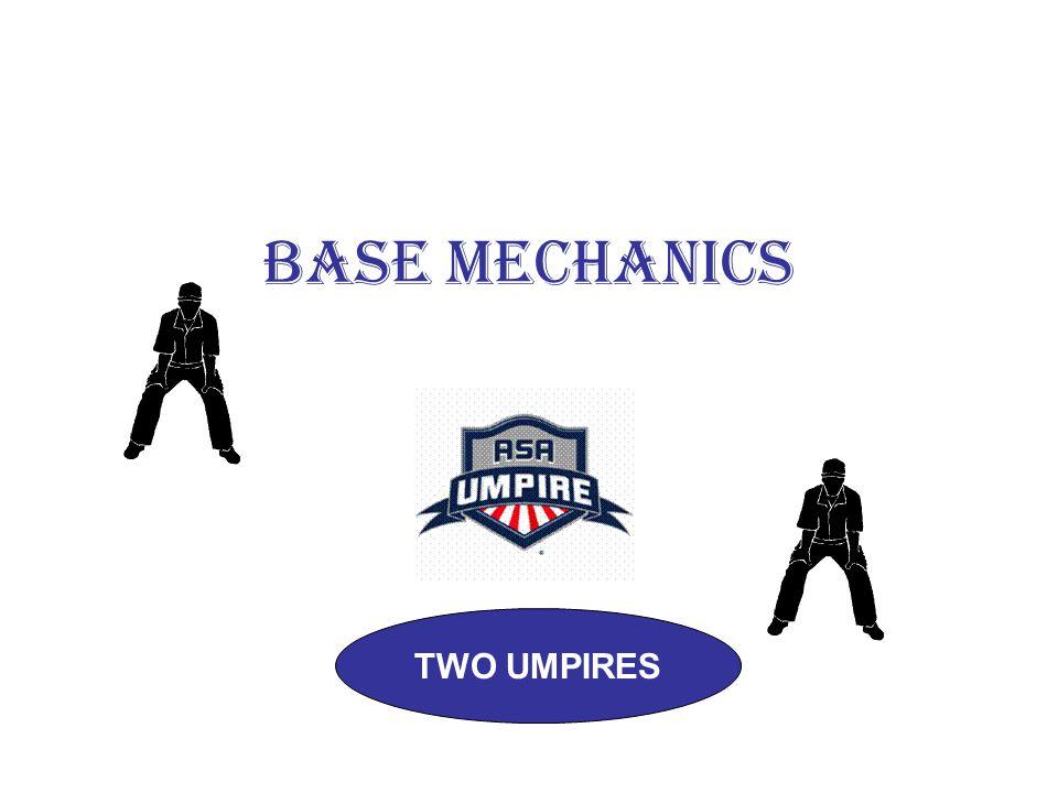 BASE MECHANICS TWO UMPIRES