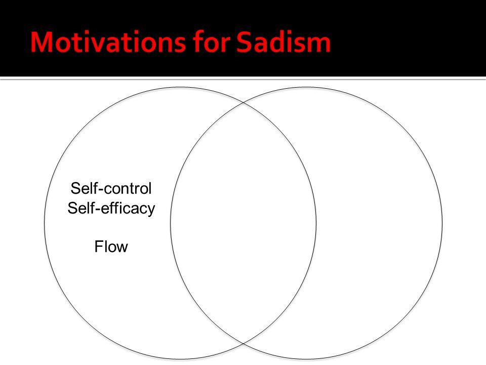 Self-control Self-efficacy Flow