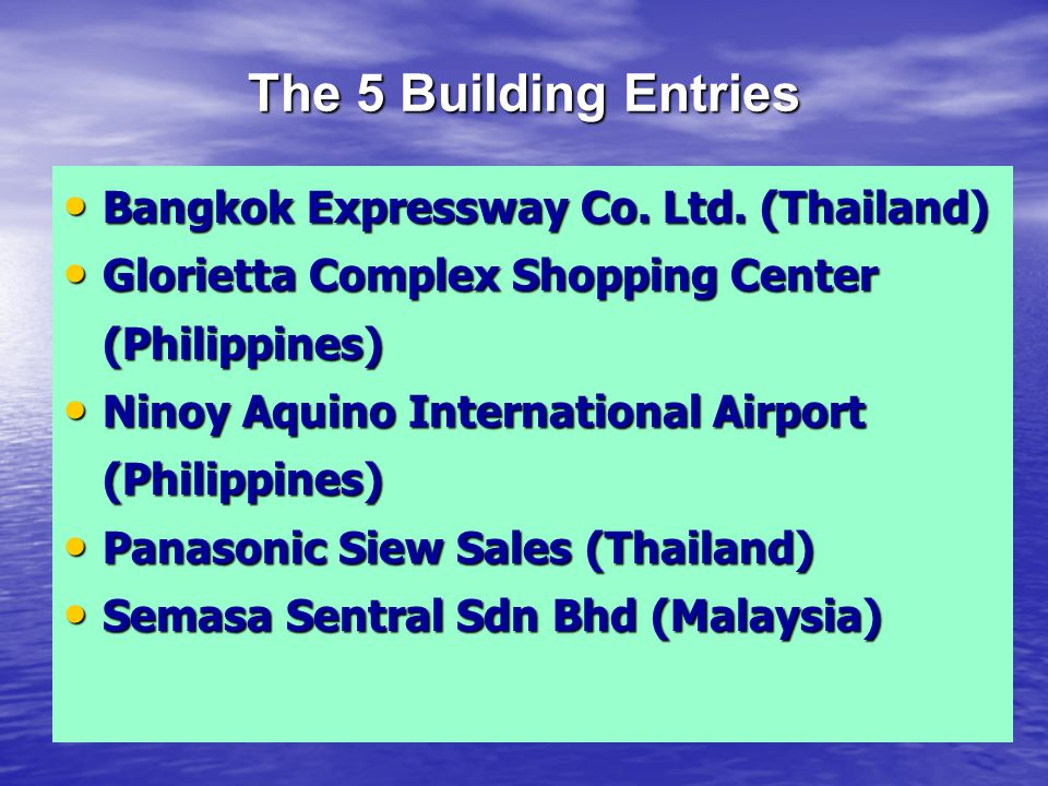 The 11 Industry Entries Lao Cement Co.Ltd. (Lao PDR) Lao Cement Co.