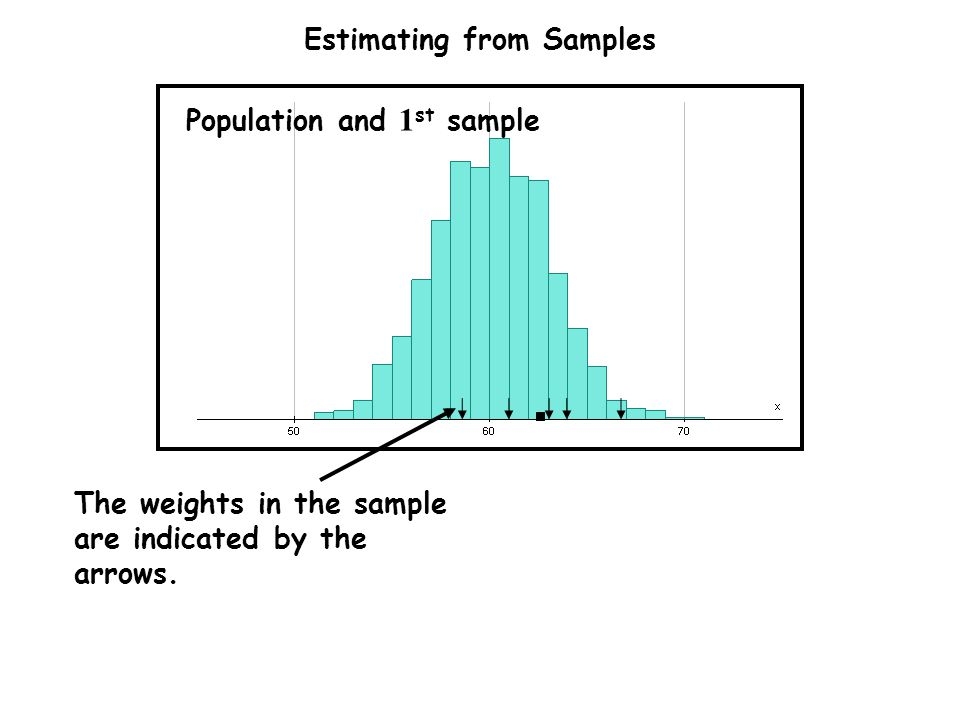 Estimating from Samples The weights in the sample are indicated by the arrows.