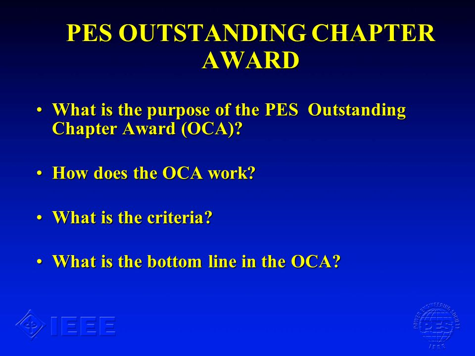 WHAT IS THE BOTTOM LINE IN THE OCA.