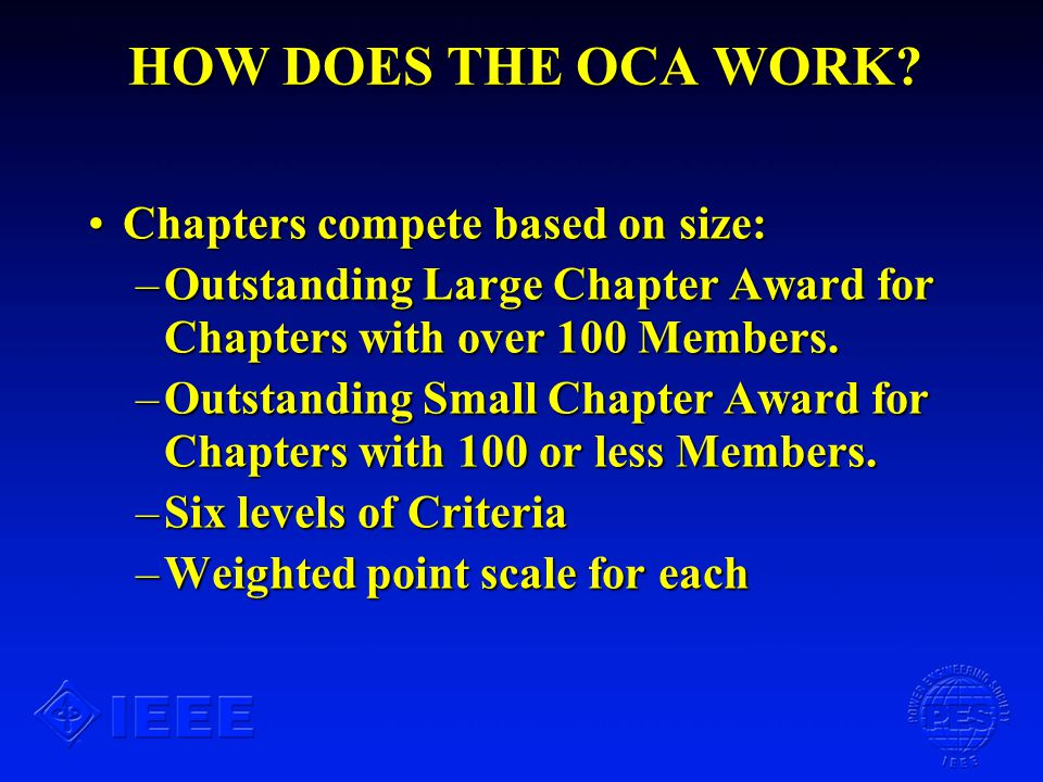 HOW DOES THE OCA WORK.