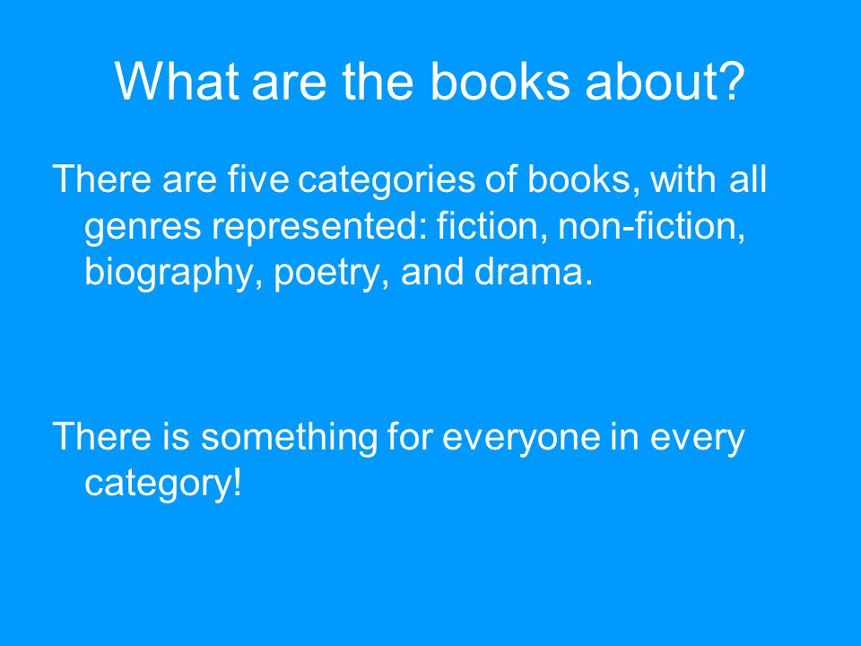 What are the books about.