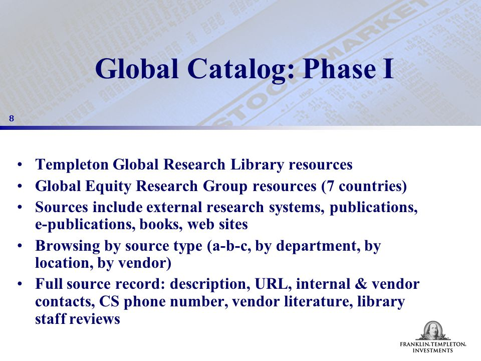 19 Work in Progress: Phase II Content Management module Search engine Dynamically generated industry & country web guides Research Requests Management module Promotion & marketing