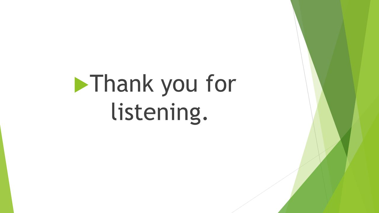  Thank you for listening.