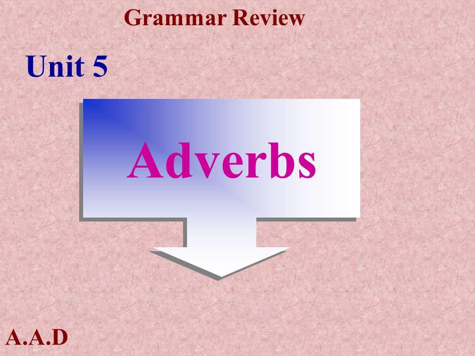 A.A.D Grammar Review التساوى في الصفة 1- As+ adj+as النفي not +As\so+ adj +as