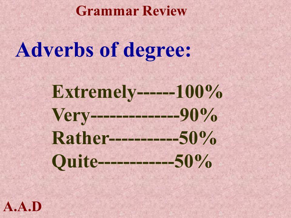 A.A.D Grammar Review Adjectives