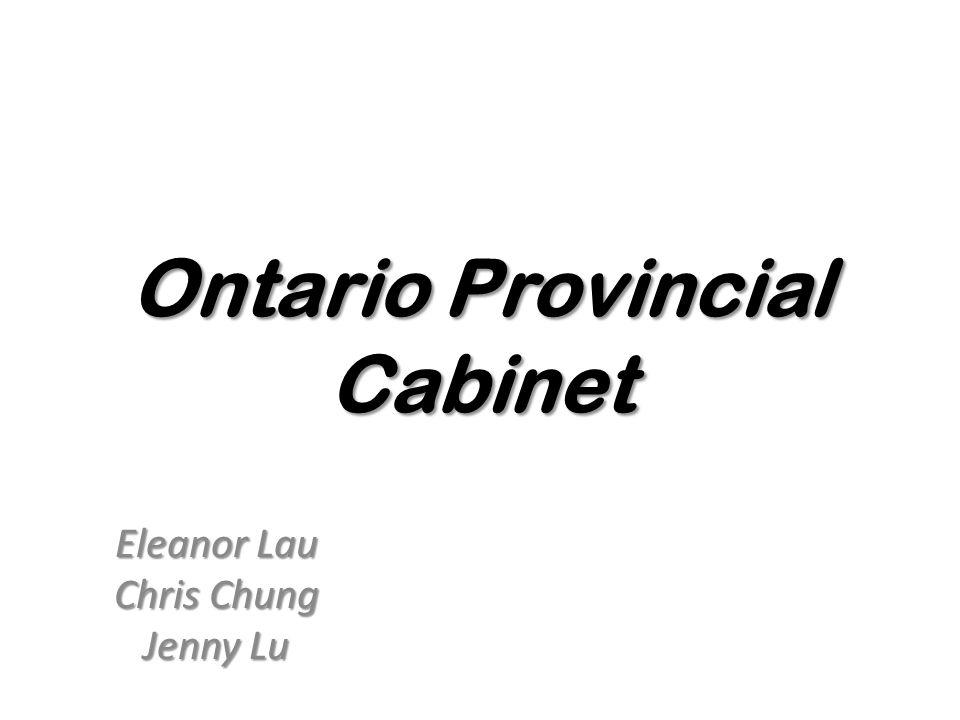 Ontario Provincial Cabinet Eleanor Lau Chris Chung Jenny Lu