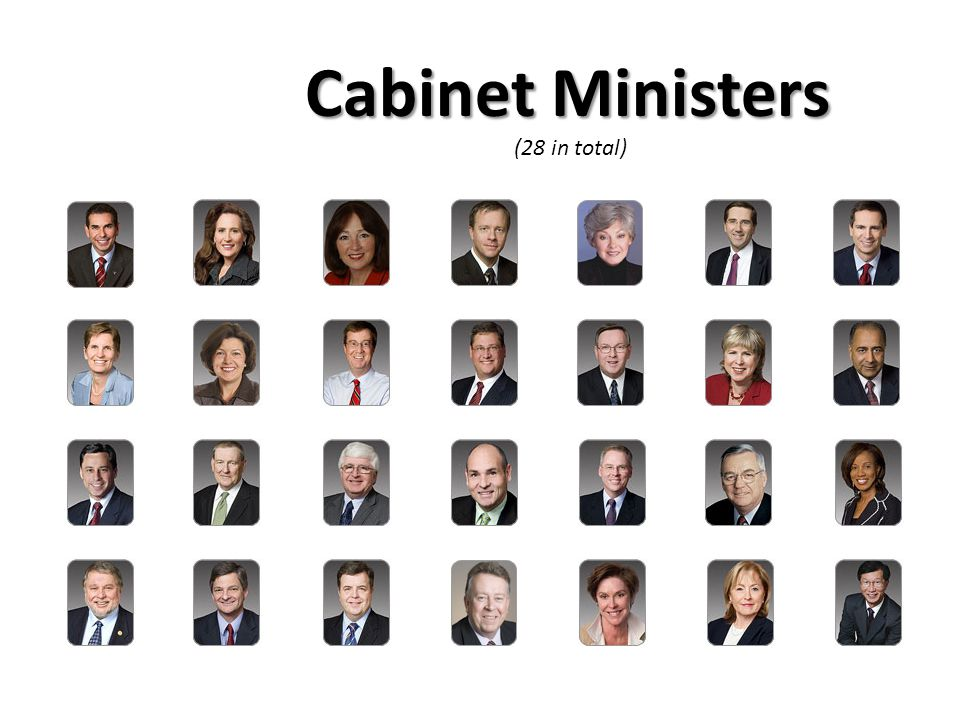 Cabinet Ministers (28 in total)