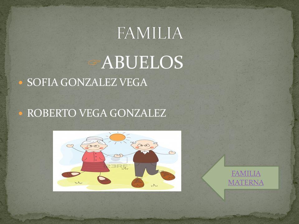  ABUELOS SOFIA GONZALEZ VEGA ROBERTO VEGA GONZALEZ FAMILIA MATERNA