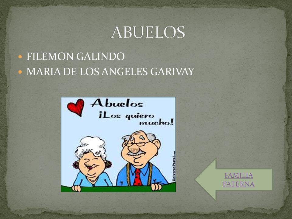 FILEMON GALINDO MARIA DE LOS ANGELES GARIVAY FAMILIA PATERNA