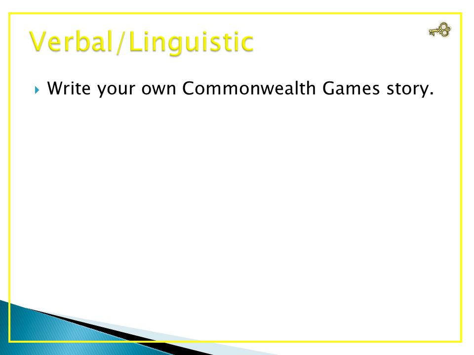  Write your own Commonwealth Games story.