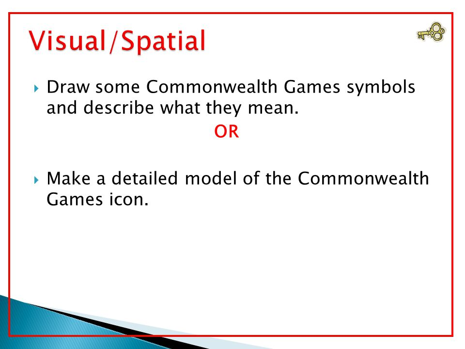  Imagine you have attended the Commonwealth Games.